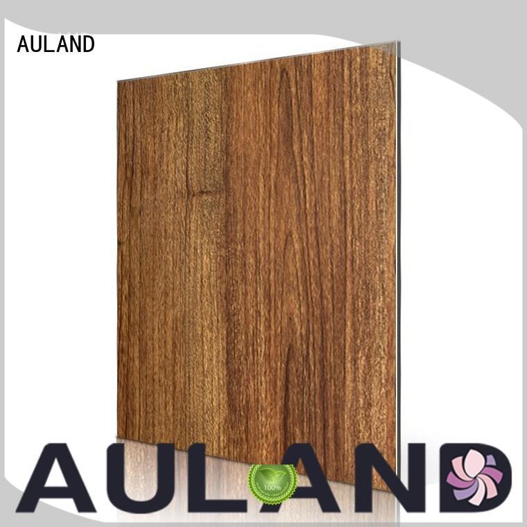 texture aluminium composite material wood AULAND company