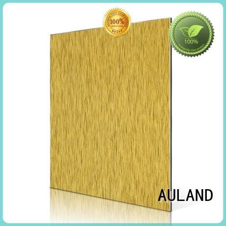 silver aluminium facade brushed aluminium composite panel singapore AULAND Brand composite brush