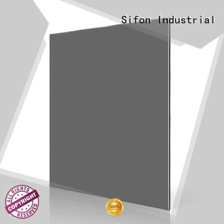 Quality AULAND Brand aluminium composite panel cladding price silver black