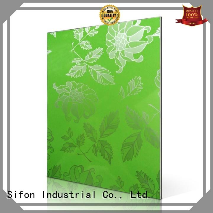 Hot green aluminium composite sheet price flowers colours AULAND Brand