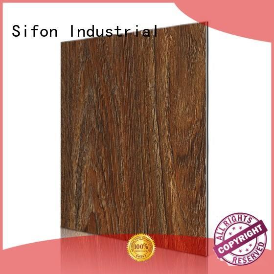 matt dark aluminium composite panel rate maple material AULAND Brand