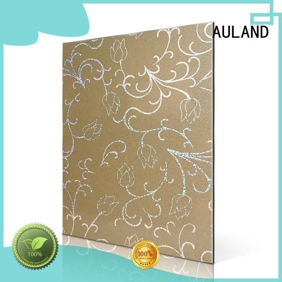 Quality AULAND Brand lines rainbow aluminium composite sheet
