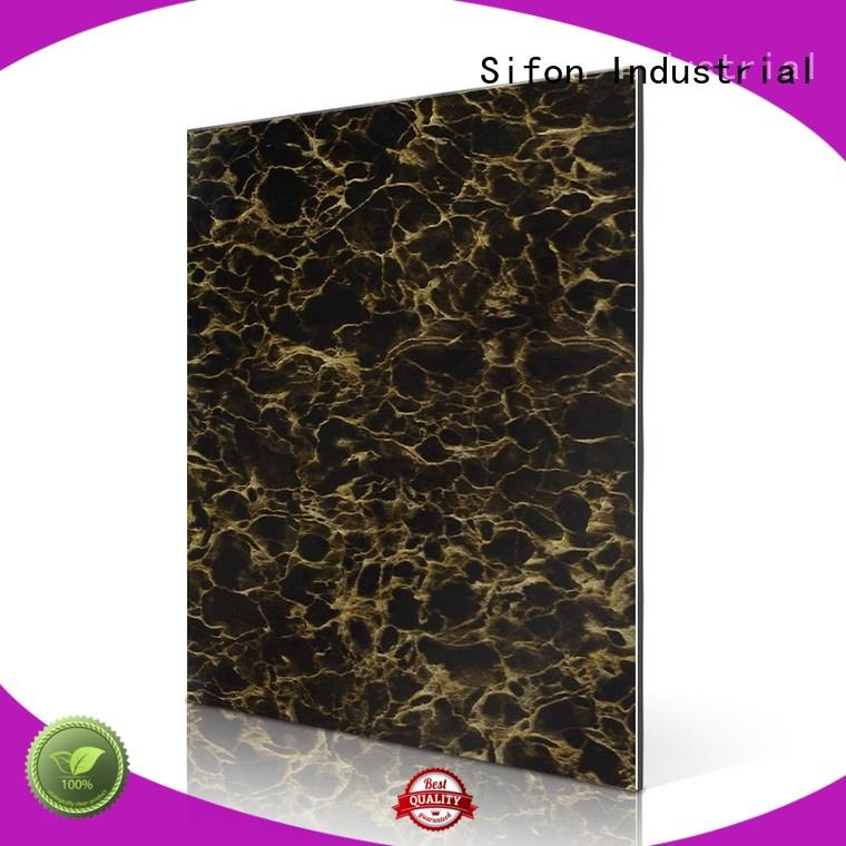 AULAND rc208w acm panel price 3D Wall Stickers Marble Brick Waterproof for industrial buildings
