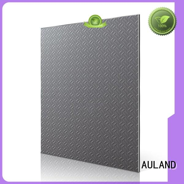 AULAND Brand sheet material acp panel interior design black brushed granular supplier