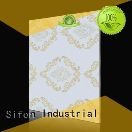 Custom paper european acm composite panel AULAND fashion waves gold lines