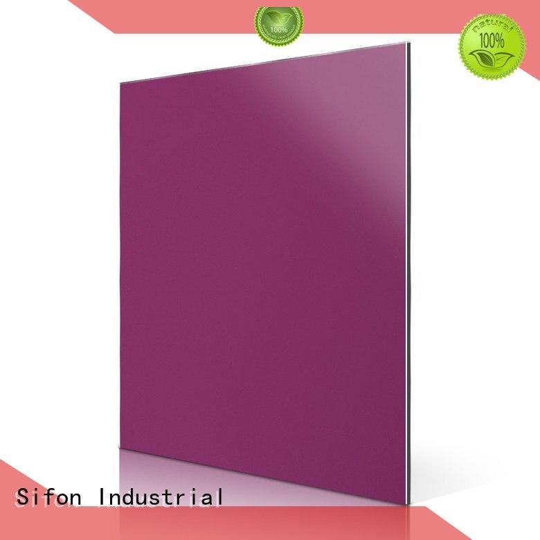 sheet panels AULAND Brand aluminium composite panel fixing