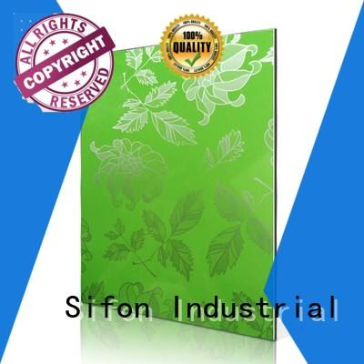 compact structure aluminium composite sheet price saa255h07fg on sale for industrial buildings