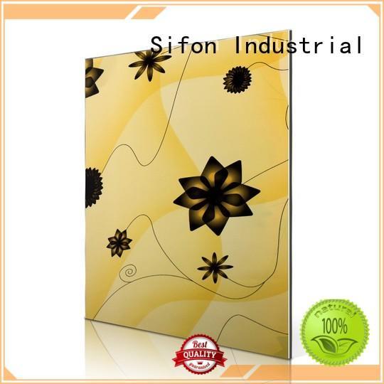 flowers Custom popular aluminium composite sheet price color AULAND