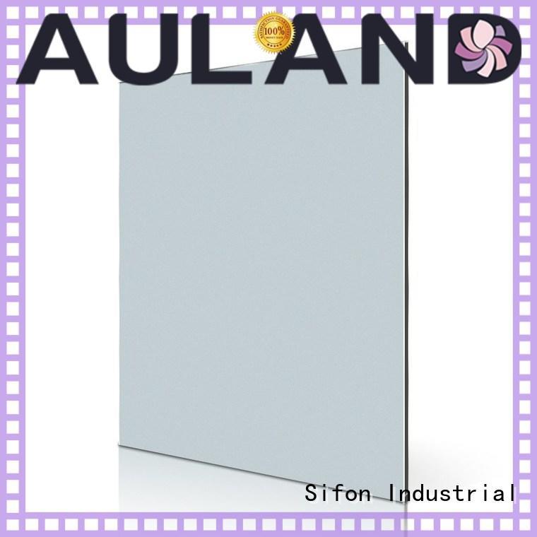 aluminium composite panel cladding price silver black cladding AULAND Brand acp panels india