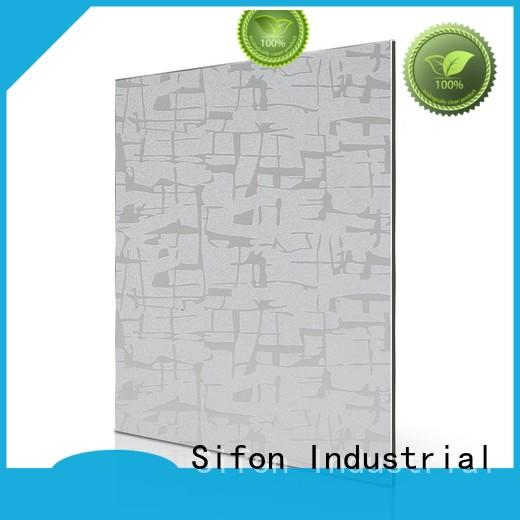 AULAND animal aluminium composite material 3D Wall Stickers Marble Brick Waterproof for construction site