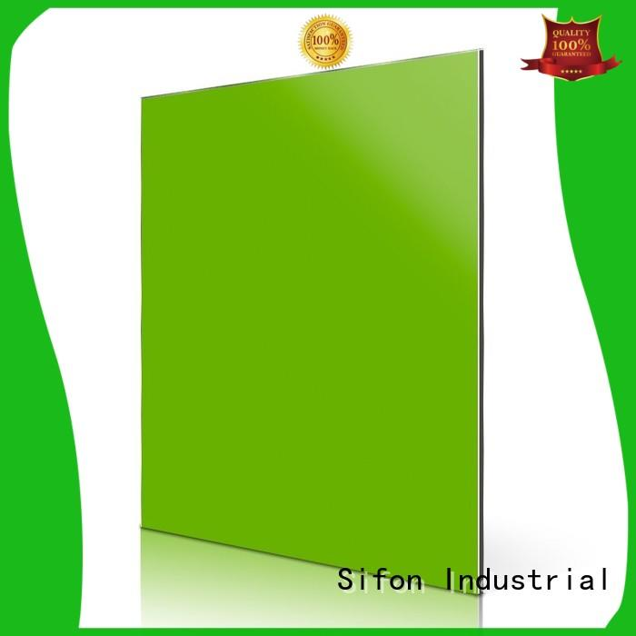 smooth acm panels installation green factory price for concrete production