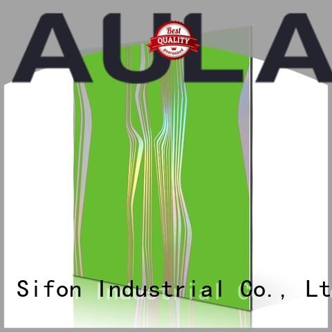 AULAND lines aluminium composite panel price wholesale suppliers for industrial buildings