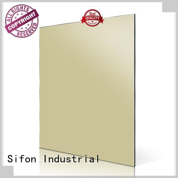 aluminium composite panel fixing green panels AULAND Brand company