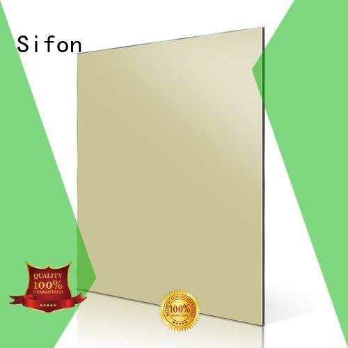 Quality aluminium composite panel fixing Sifon Brand red acm aluminum composite panel