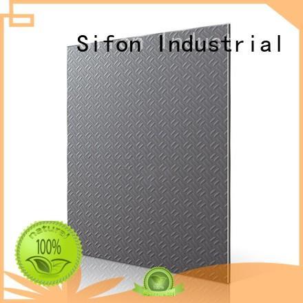 stars Custom champagne black brushed granular acp aluminium composite panel AULAND aluminium