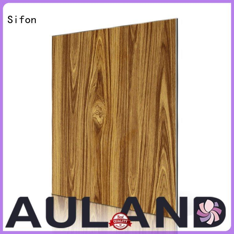Sifon Brand zebra dark arabescato acp wall panels
