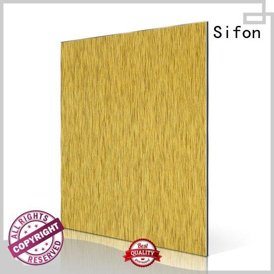 aluminium composite panel singapore brown brush gold facade