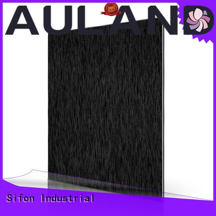 AULAND silver 4mm acm panel manufacturer for city road