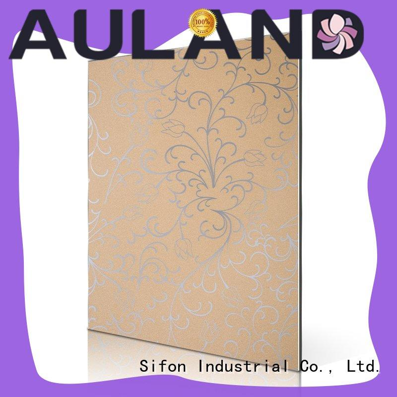 AULAND gold acm material panel wholesale online shopping for school