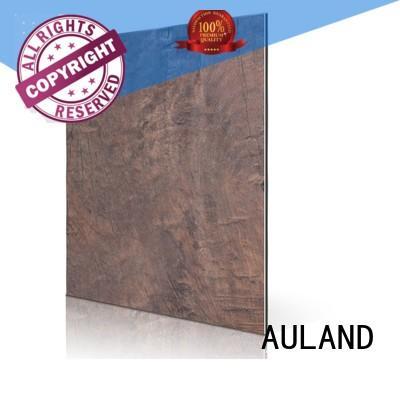Quality AULAND Brand aluminium composite panel rate matt teak