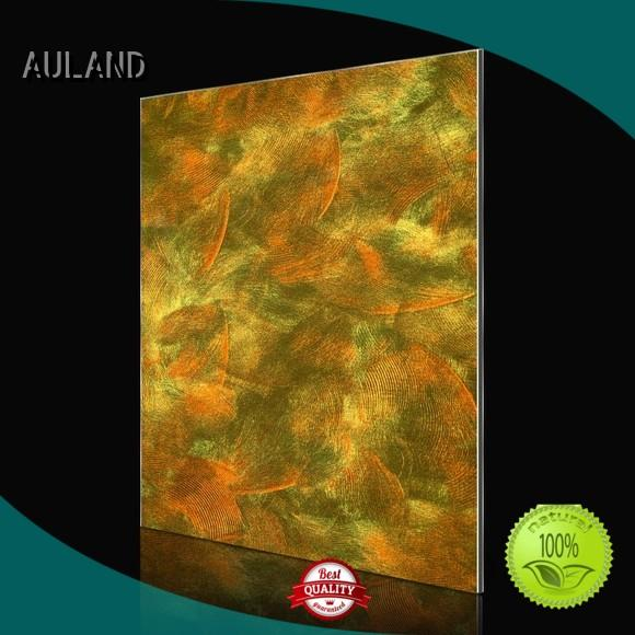 gold wall acm composite panel panels AULAND