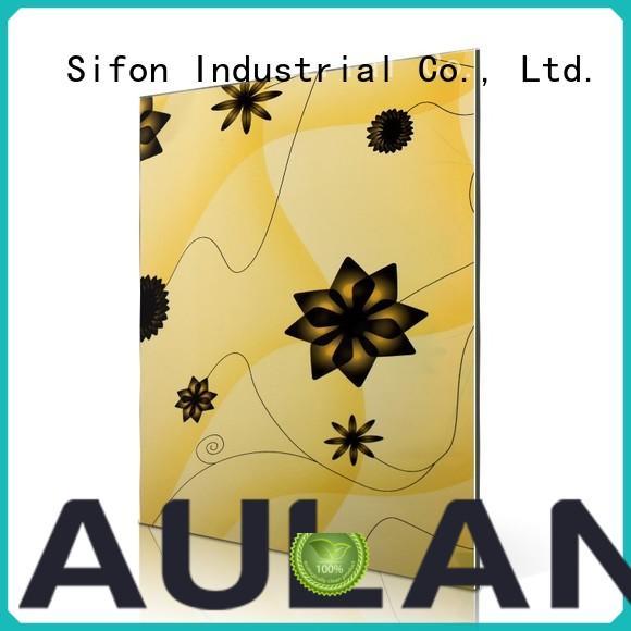 AULAND colours aluminum composite panel for sale supplier for industrial buildings