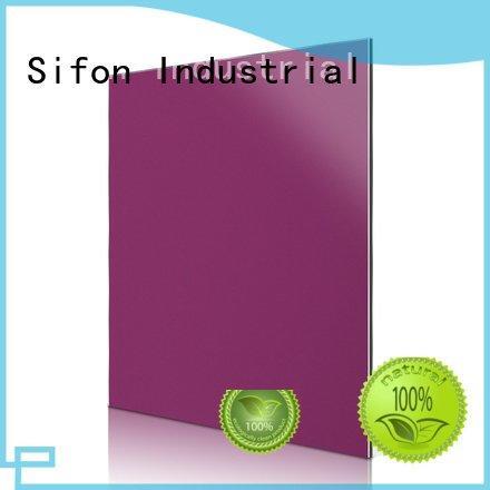 purple sheet aluminium price Sifon aluminium composite panel fixing
