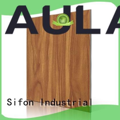 Hot maple aluminium composite panel rate dark AULAND Brand